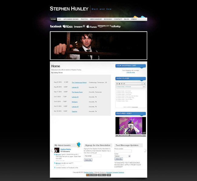 Stephen Hunley Website Re-Design