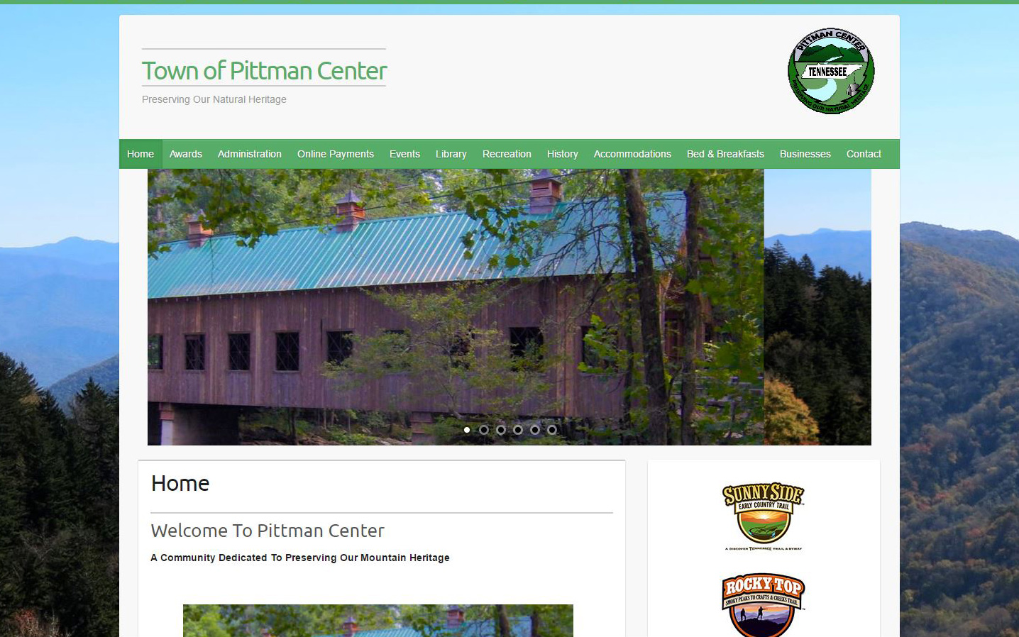 Town of Pittman Center Website